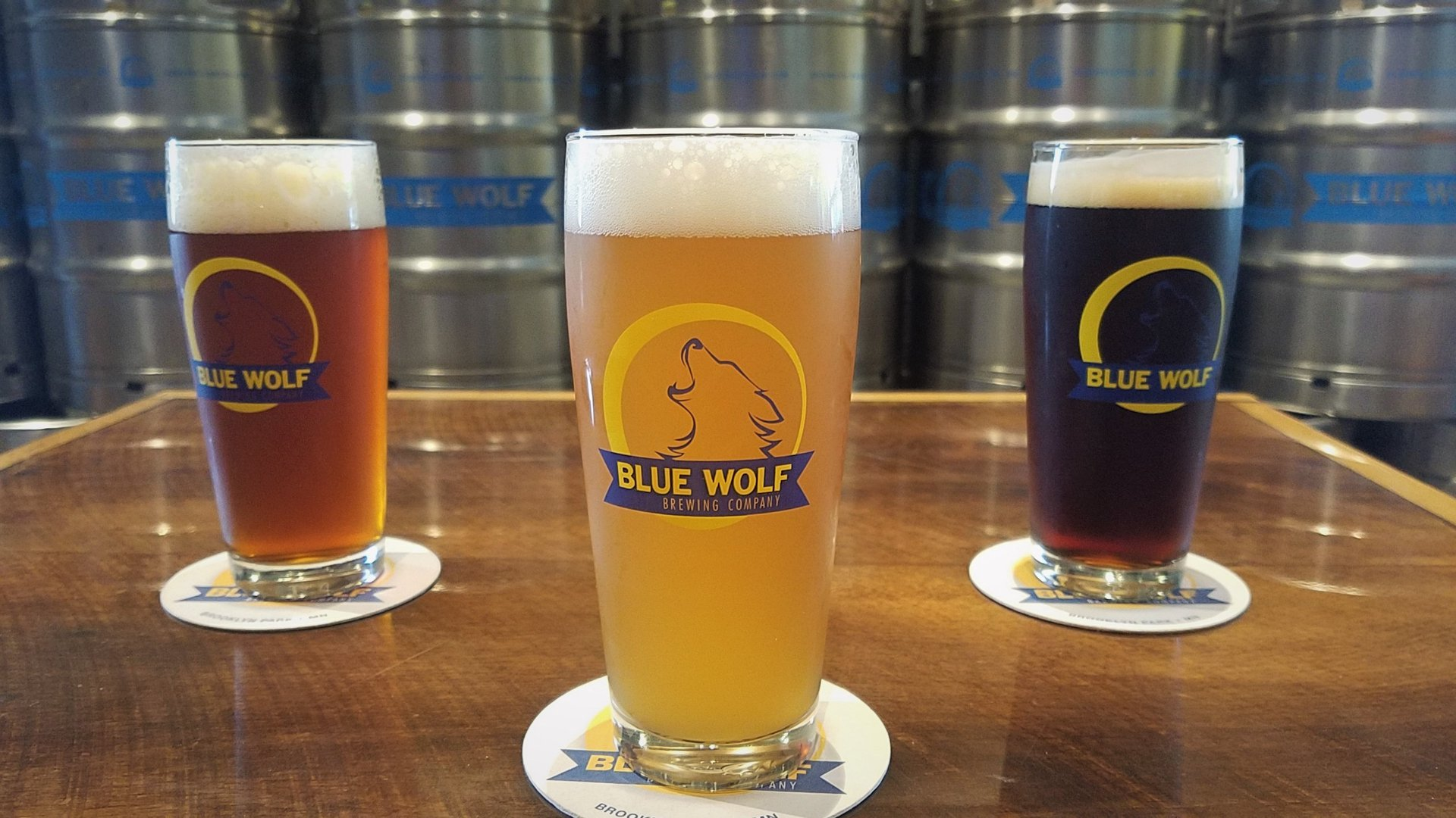 beer at blue wolf brewing in minnesota